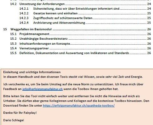 Inhaltsverzeichnis Teil-2 Handbuch QuatheDA-Toolbox